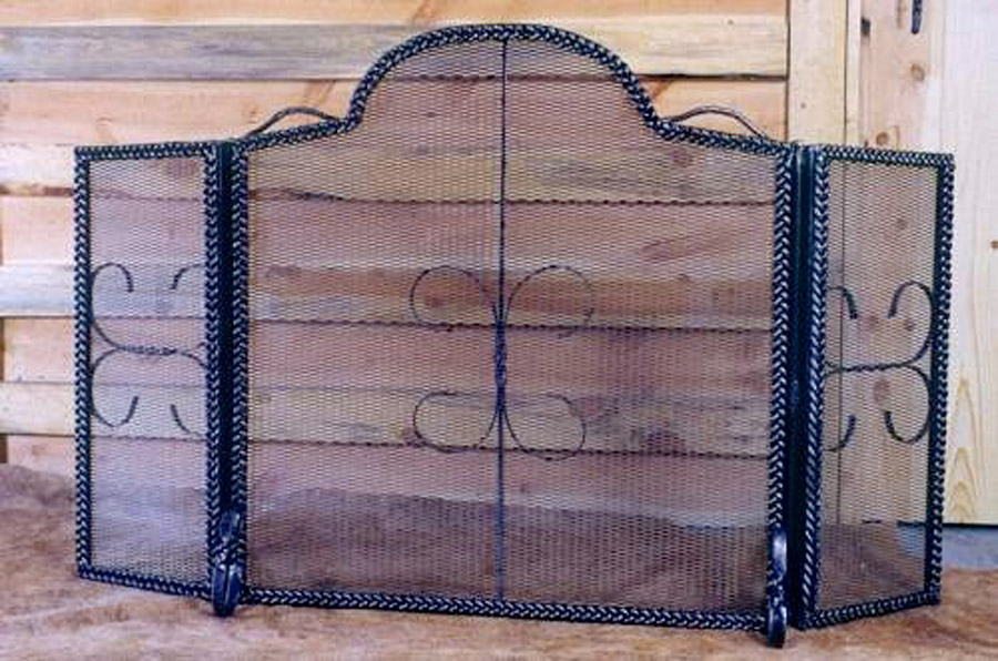 Braided Fireplace Screen