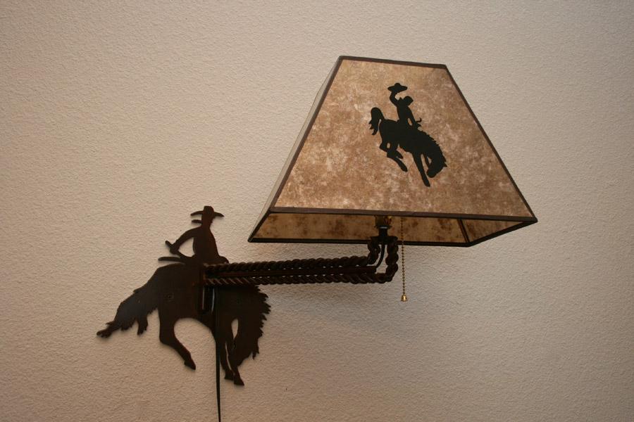 Bucking Horse Wall Mount Light