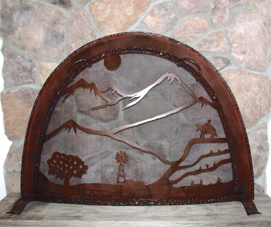 Cascade Fireplace Screen