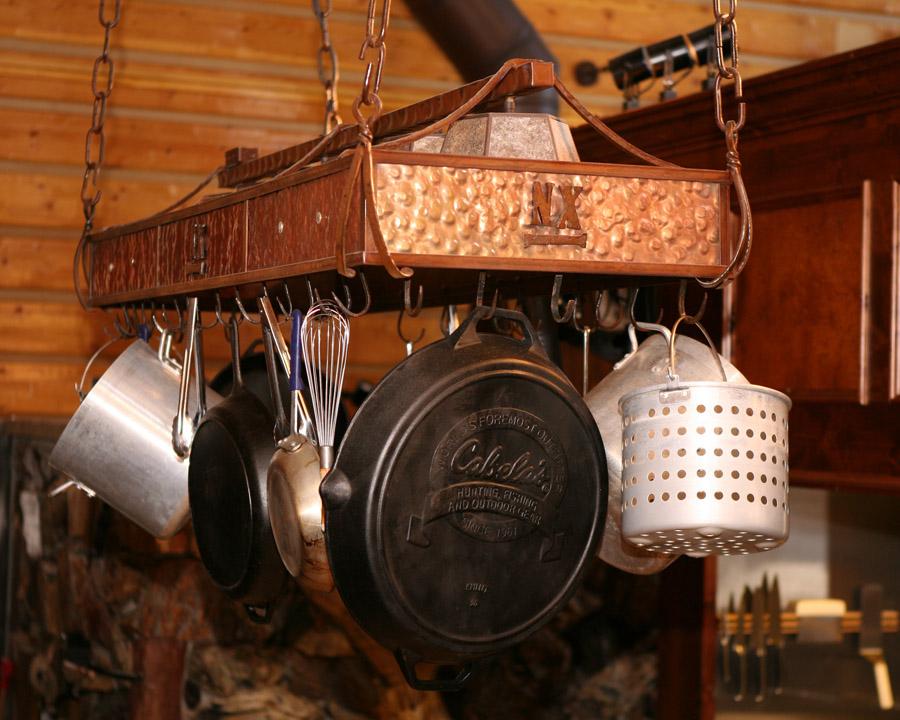 Copper Pot Rack