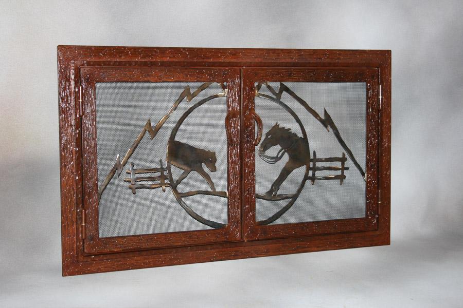 Cutting Fireplace Screen
