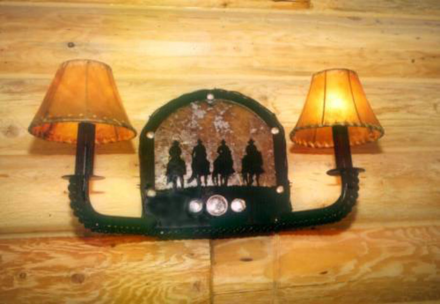 Four Cowboy Wall Sconce