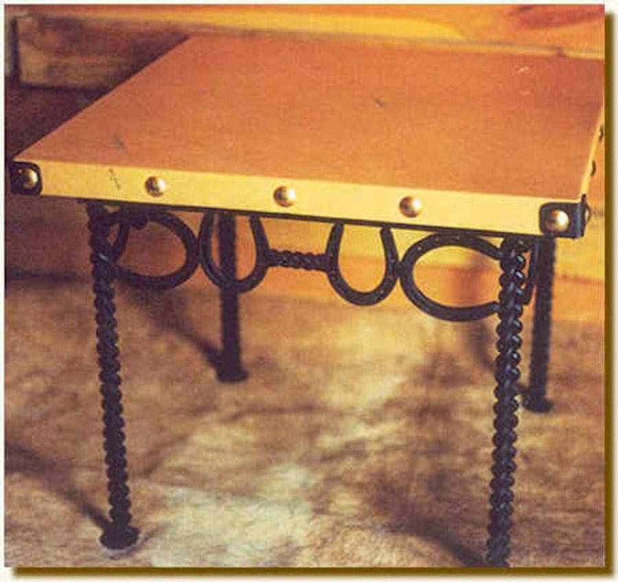 Horseshoe End Table
