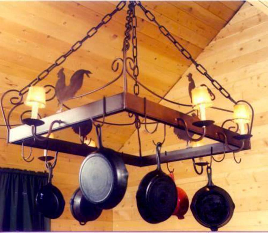 Rooster Pot Rack