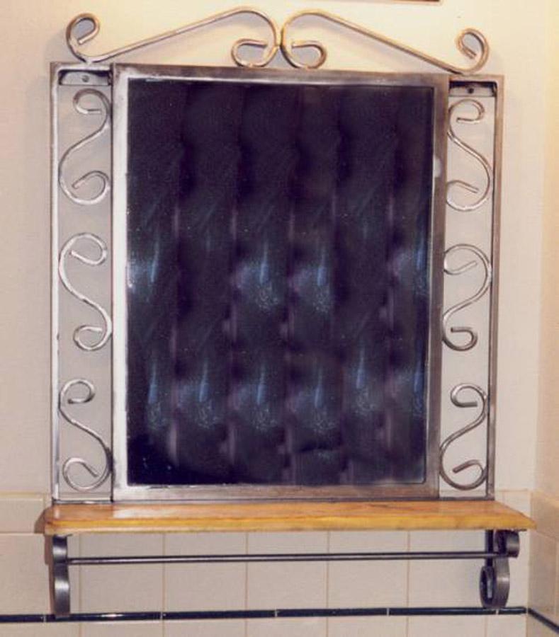 Scroll Mirror with Shelf
