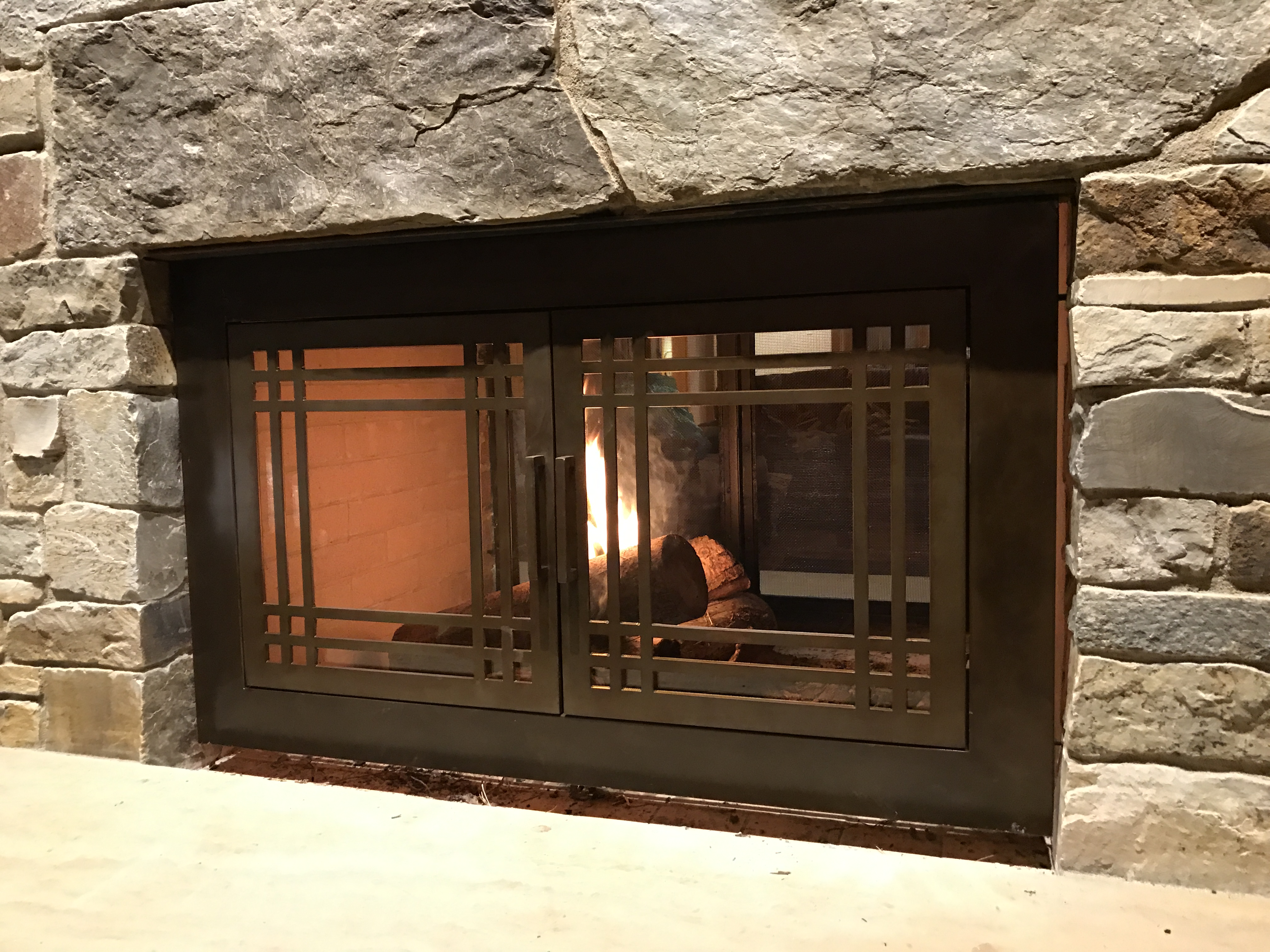 fireplaces u2013 frontier iron works