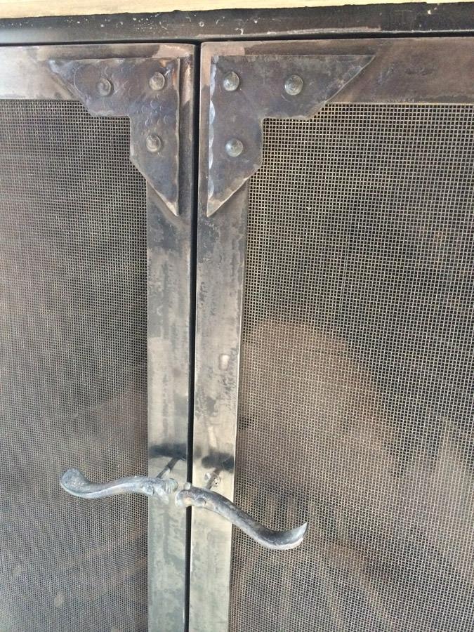Classic Iron And Stone Fireplace 1