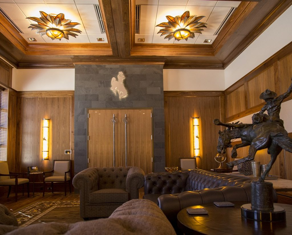 Door Handles Chandeliers Wall Scones In Cline Presidents Room Uw Gateway Center Frontier Ironworks Inc
