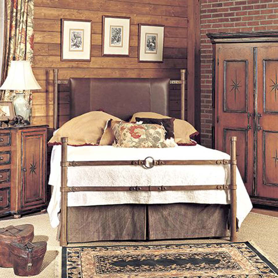 Iron Strap Bed 1