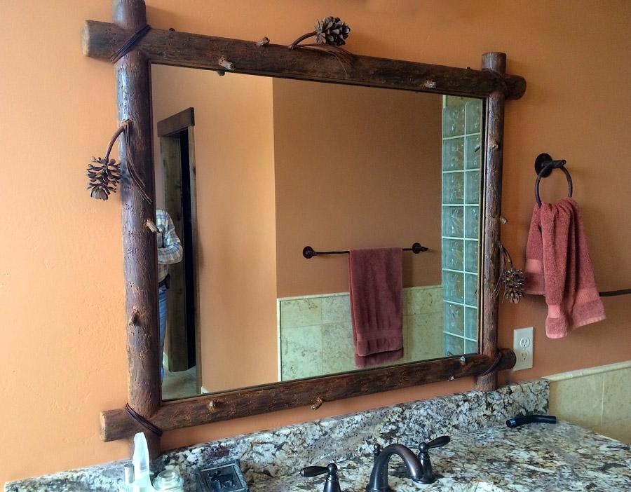 Pine Cone Mirror 1