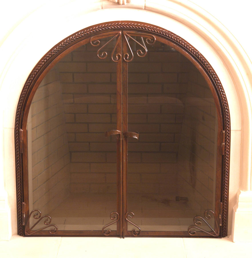 Scroll & Braid Fire Screen