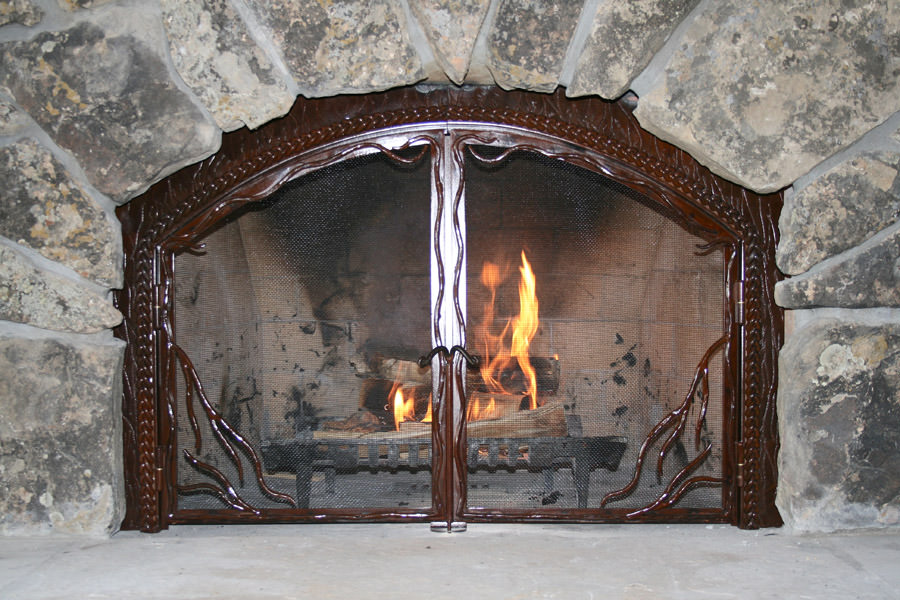 Twisted Twig Fireplace Screen