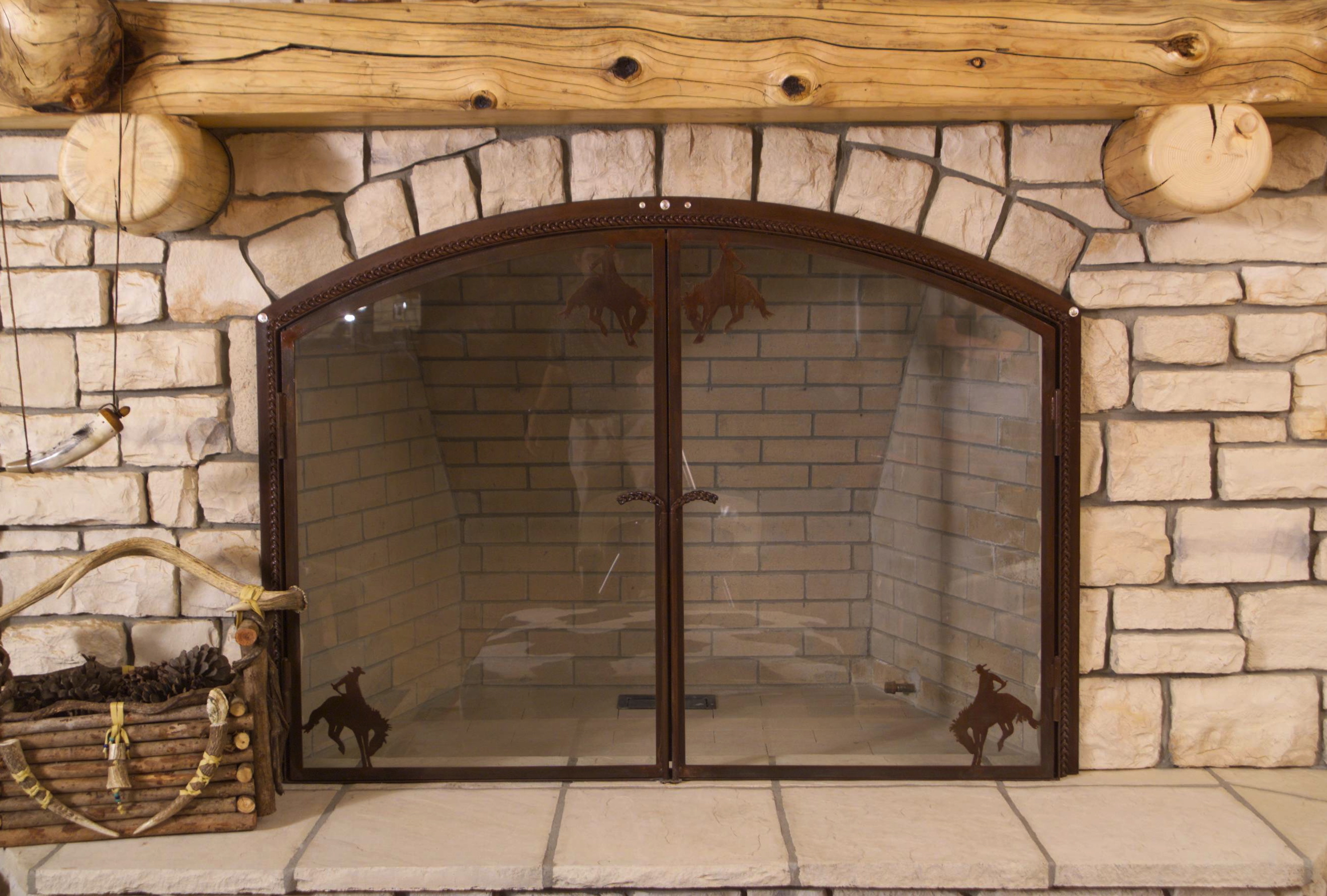 Buckaroo Fireplace Screen