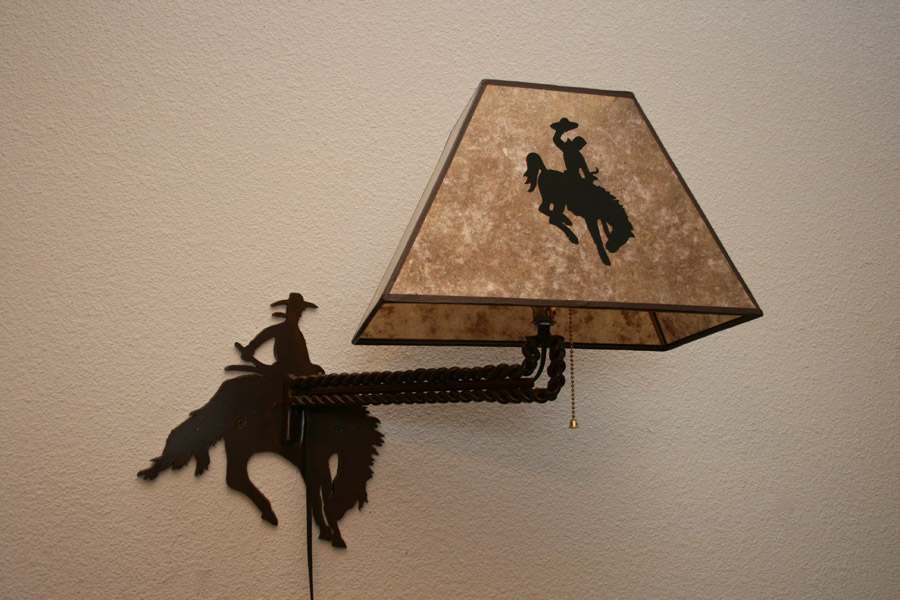 Bucking Horse Wall Mount Light