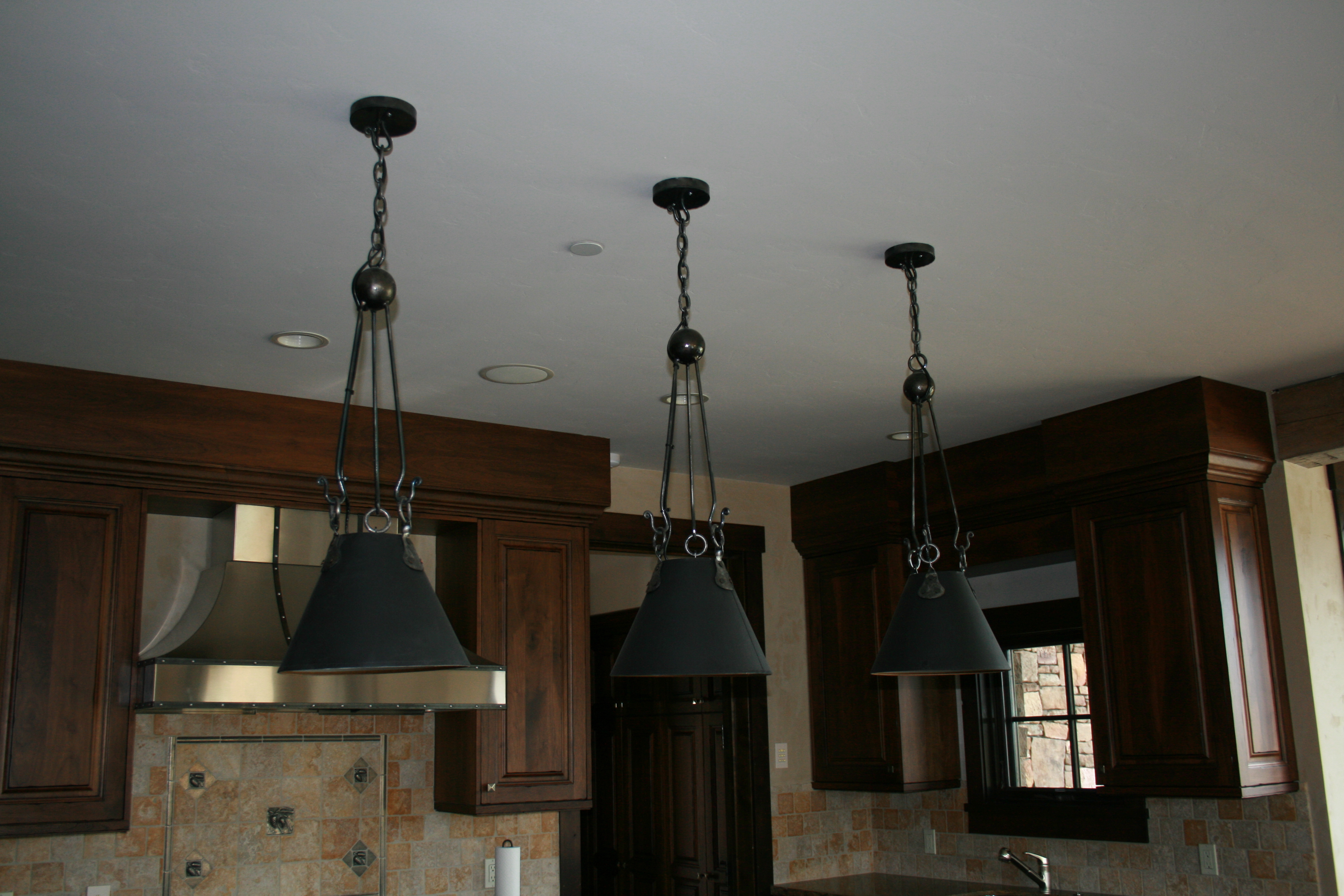 Clear Creek Pendants Kitchen