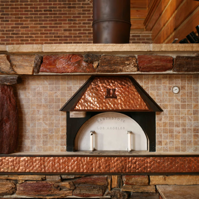 Copper Accented Pizza Hood