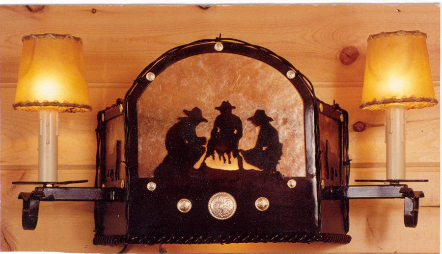 Cowboy Campfire Wall Sconce