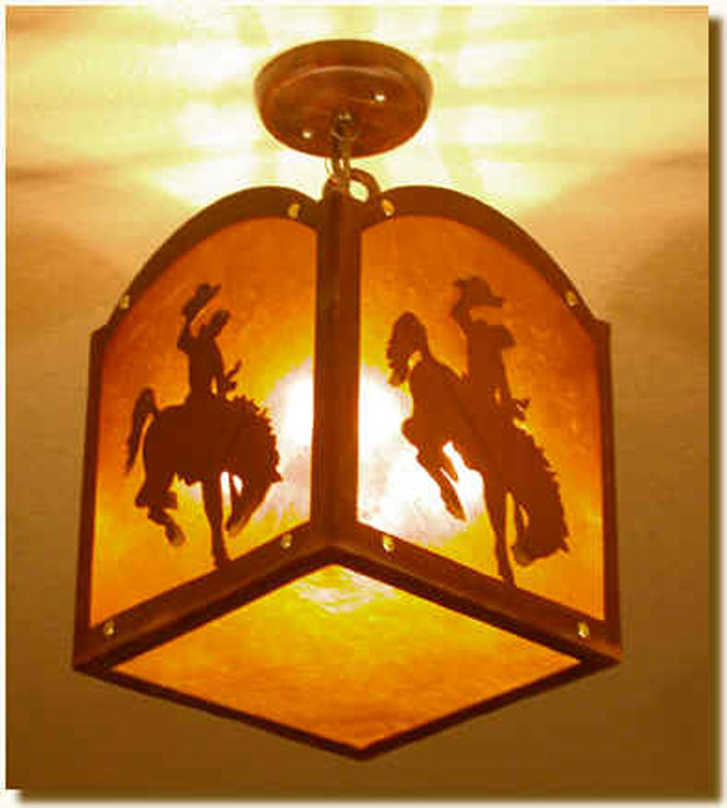 Cowboy Hanging Light