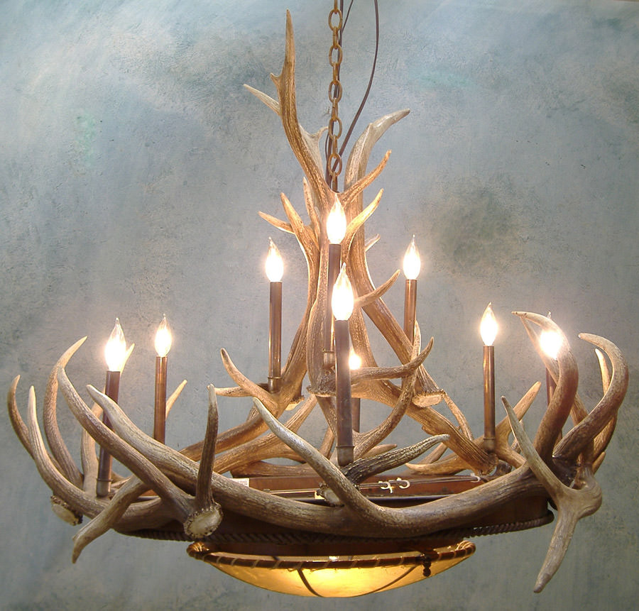Elk Horn Chandelier 48″ Without Candelabras