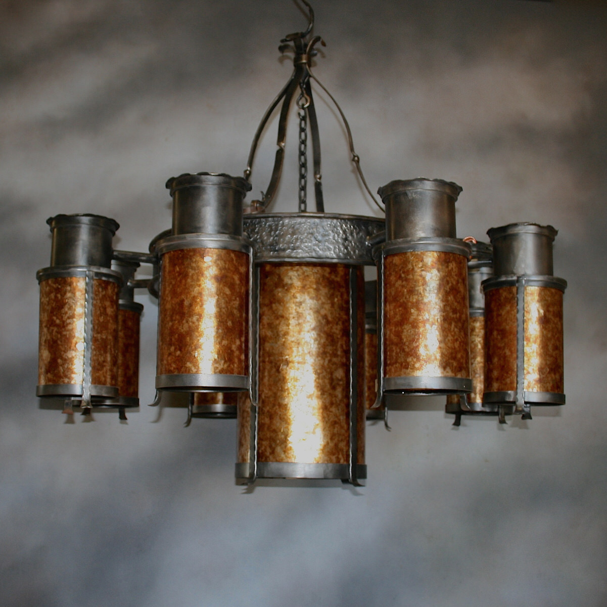 Forged Cylinder Chandelier