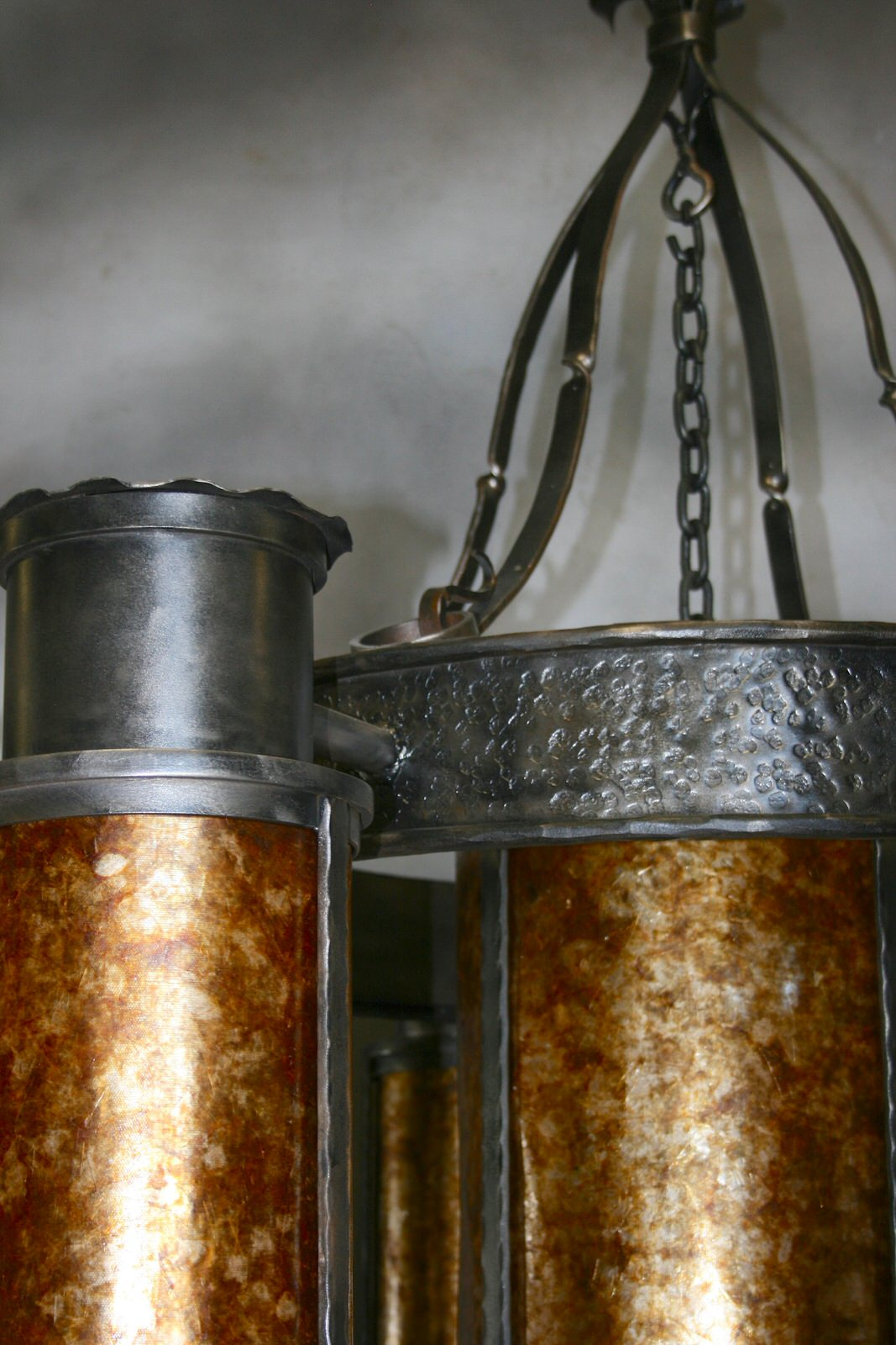 Forged Cylinder Chandelier Detail2