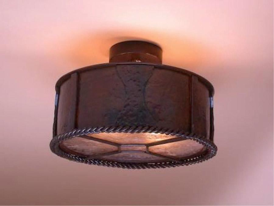 Hammered Ceiling Light