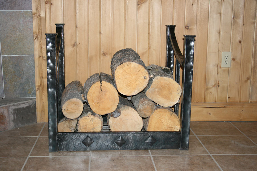 Hammered Wood Rack