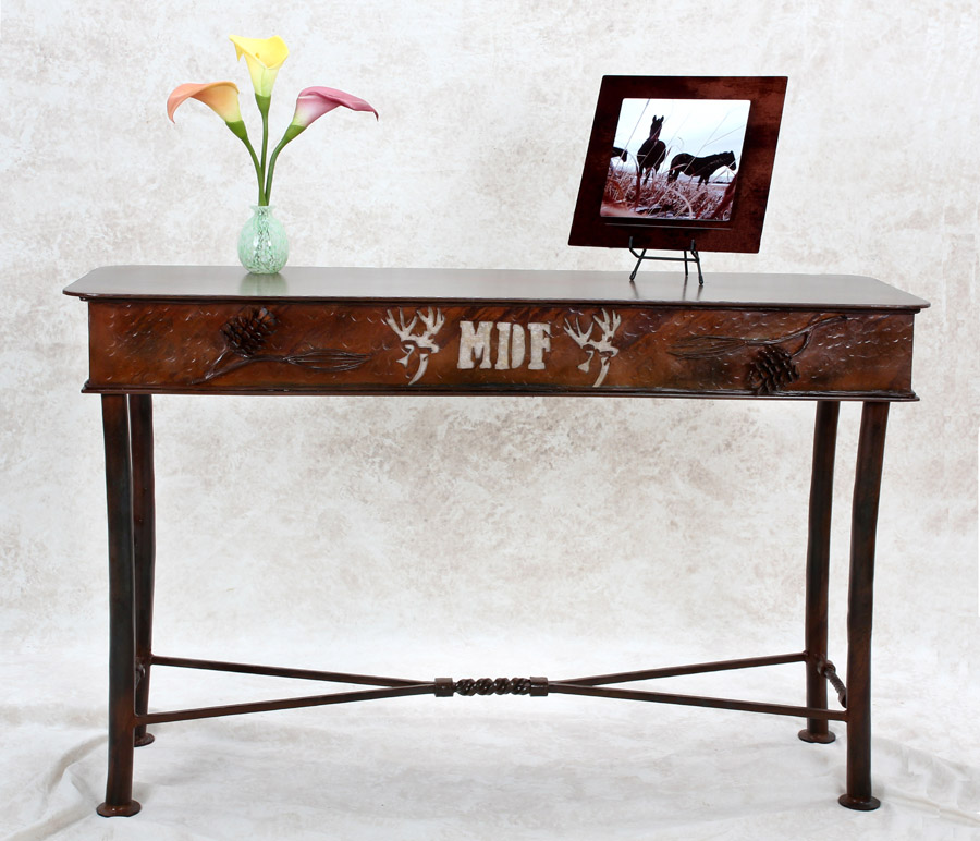 Iron Top Accent Table