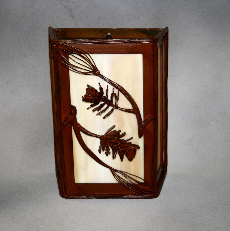 Pine Cone and Branch Wall Sconce