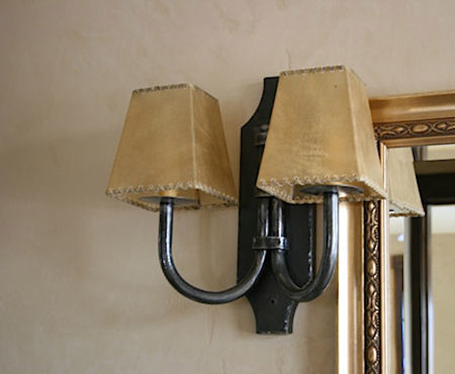 Rams Horn Double Wall Sconce