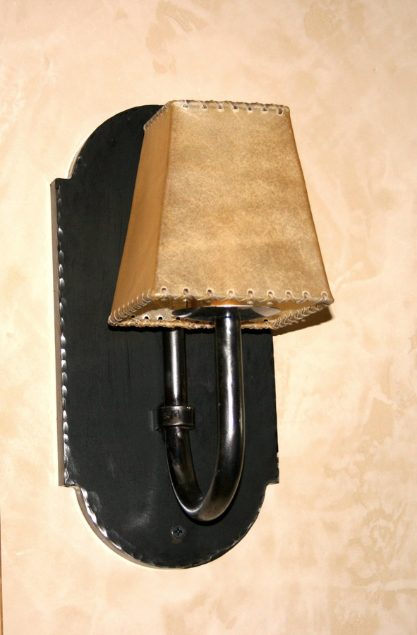 Rams Horn Single Wall Sconce