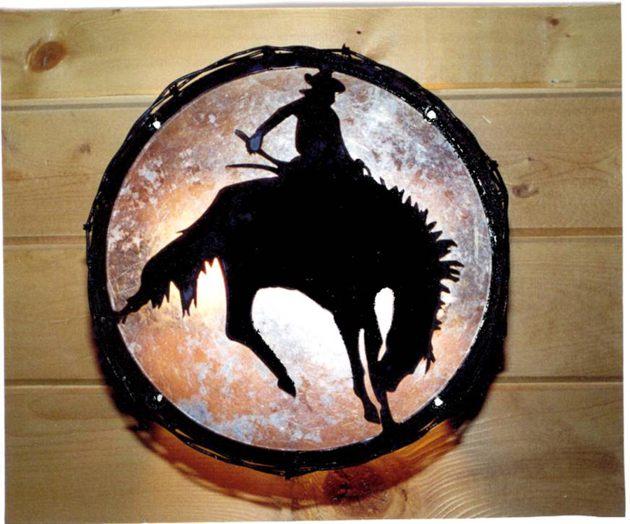 Round Cowboy Wall Sconce