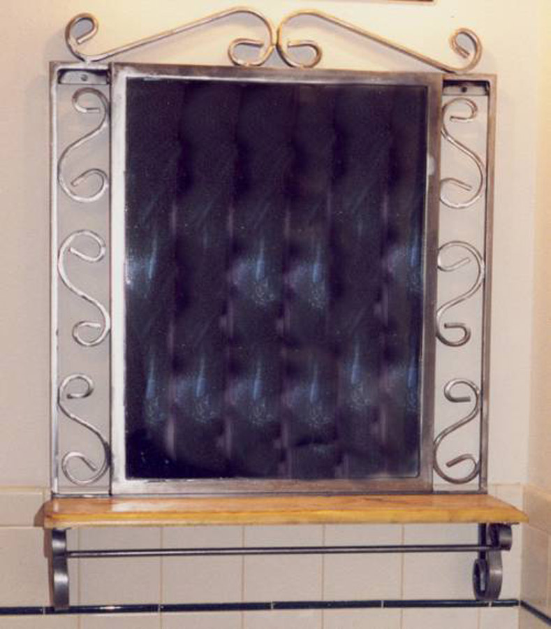 Scroll Mirror with Shelf