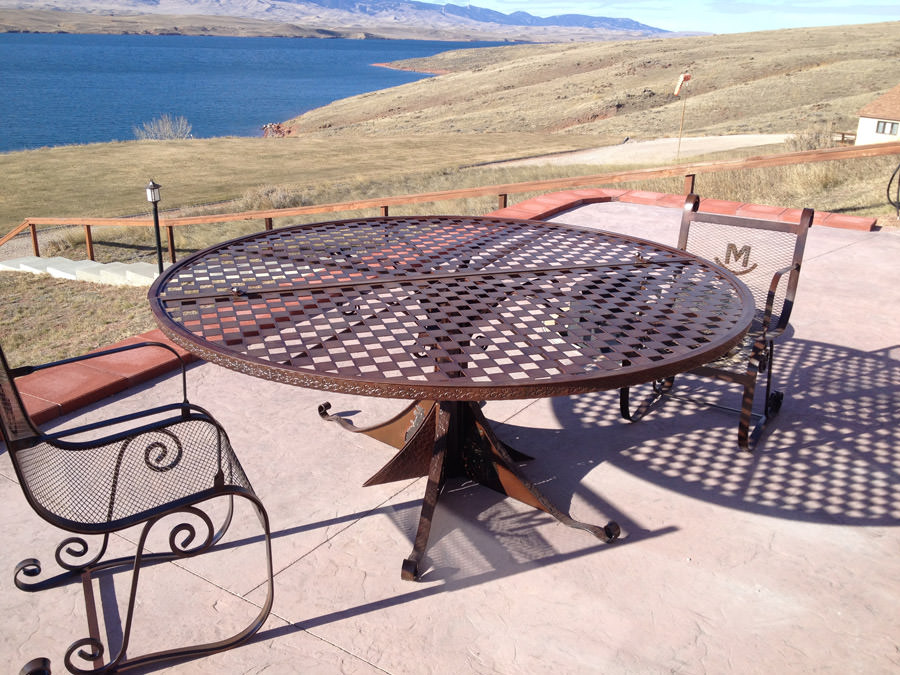 Scroll Patio Table
