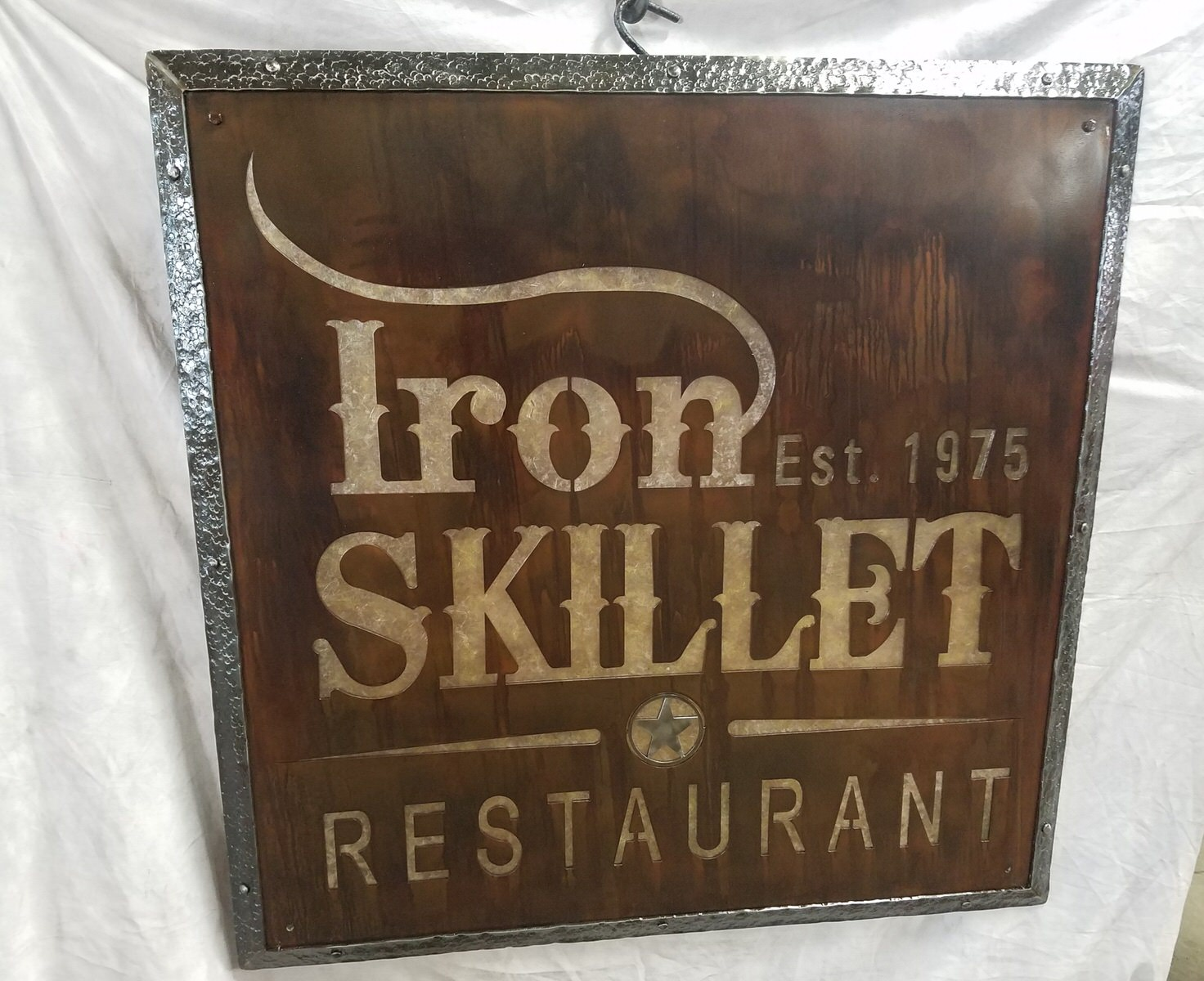 Sign Iron Skillet 2