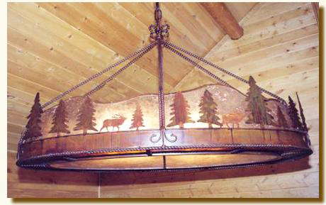 Teton Oval Chandelier