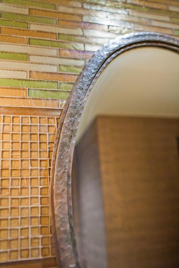 Textured Oval Mirror