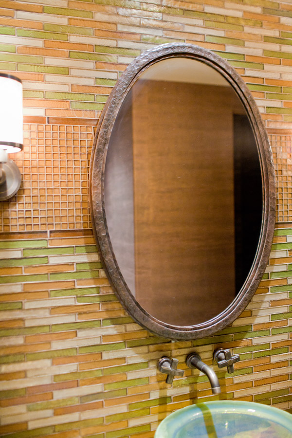Textured Oval Mirror