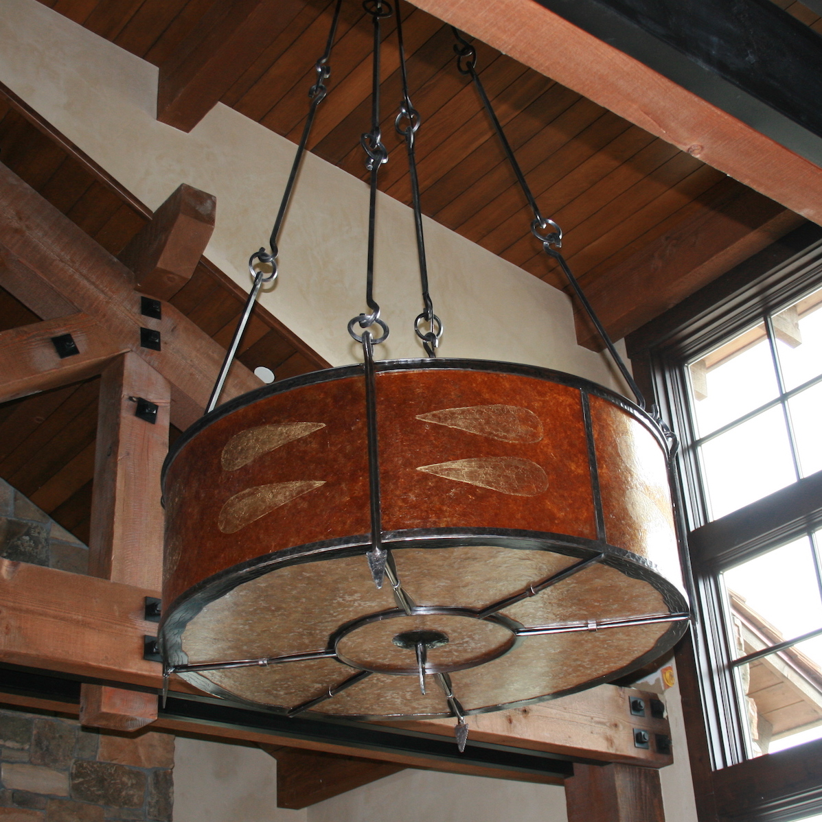 True North Arrow Chandelier