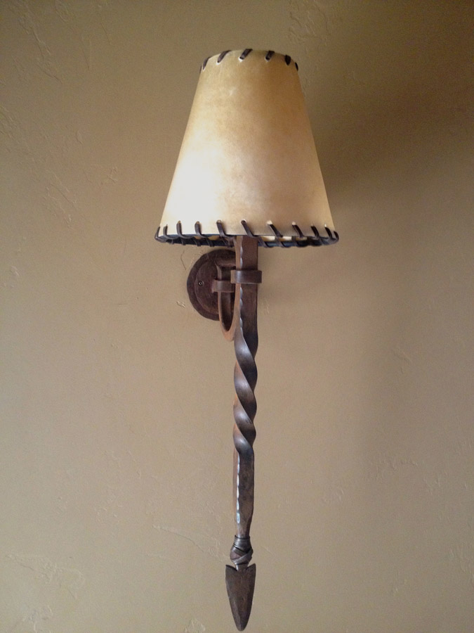 Twisted Stem Wall Sconce