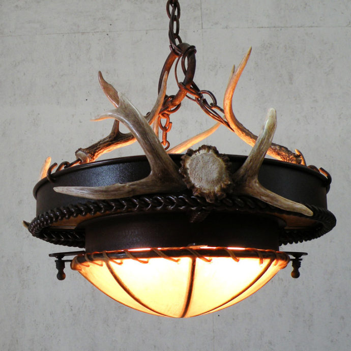 White Tail Chandelier