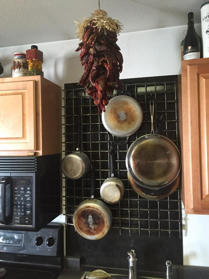 Woven Iron Pot Rack