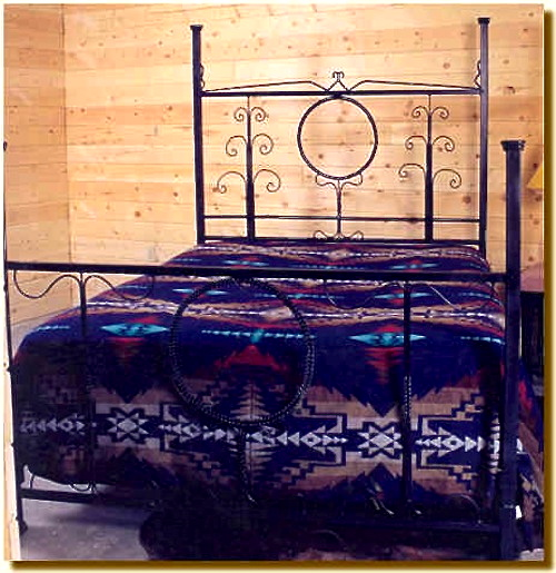 Braid And Scroll Bed