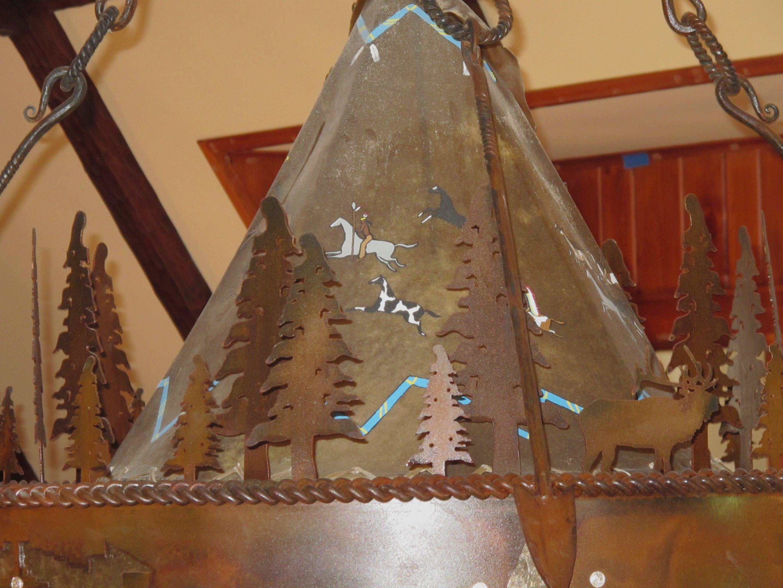 Cheyenne Chandelier Frontier Iron Works