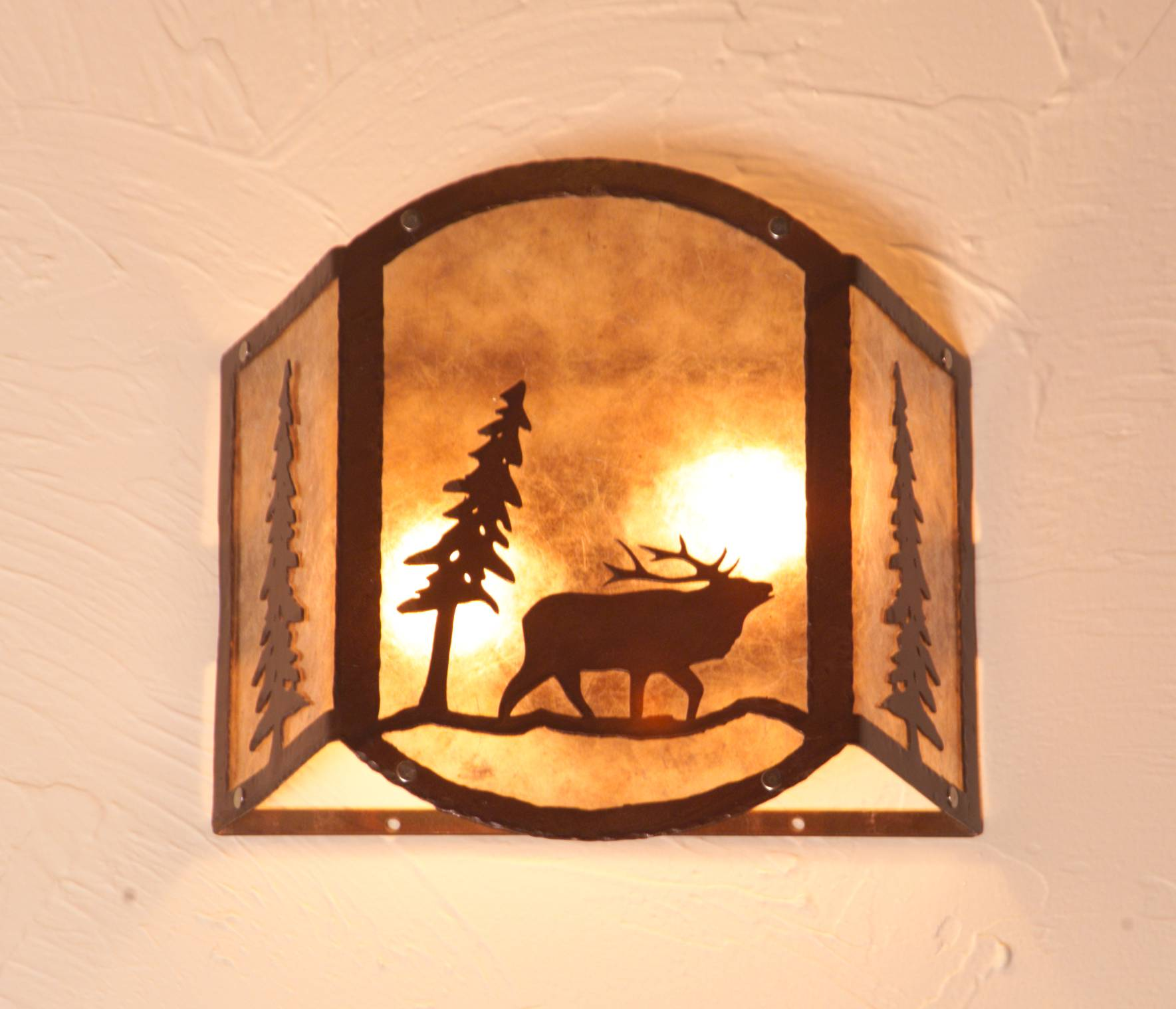 Wilderness Scene Wall Sconce