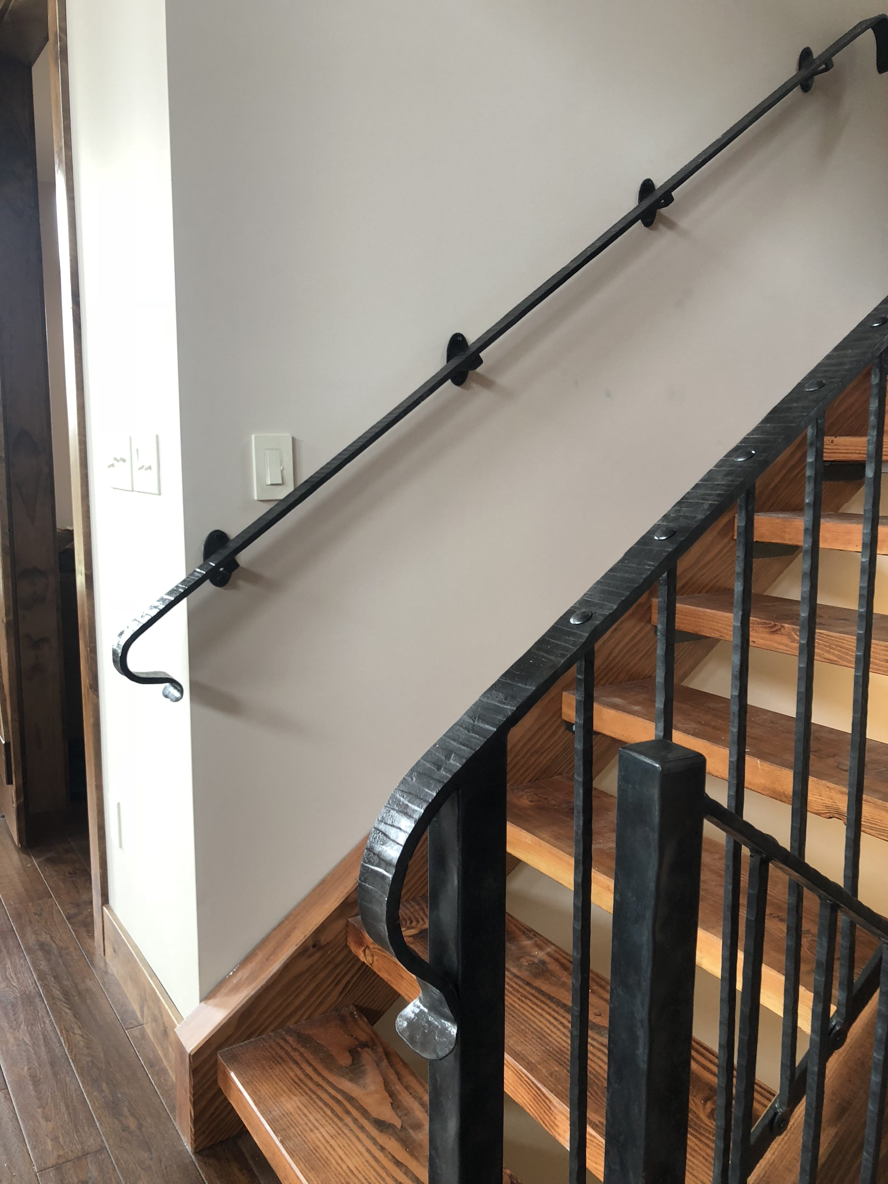 Custom Forged Hand Rail Frontier Iron Works