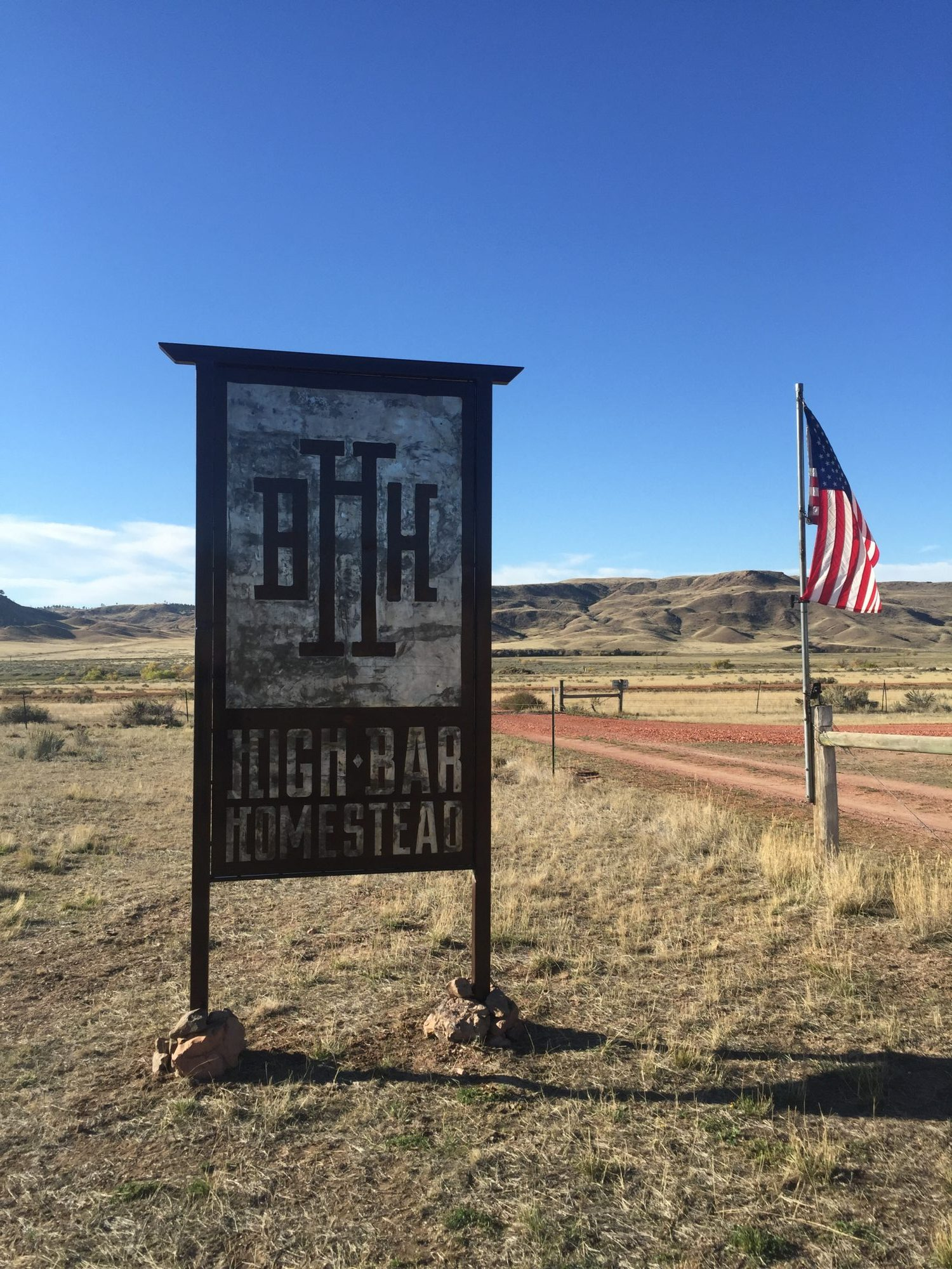 High Bar Homestead Sign Frontier Iron Works
