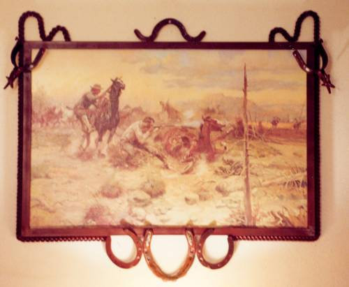 Horseshoe & Spur Picture Frame