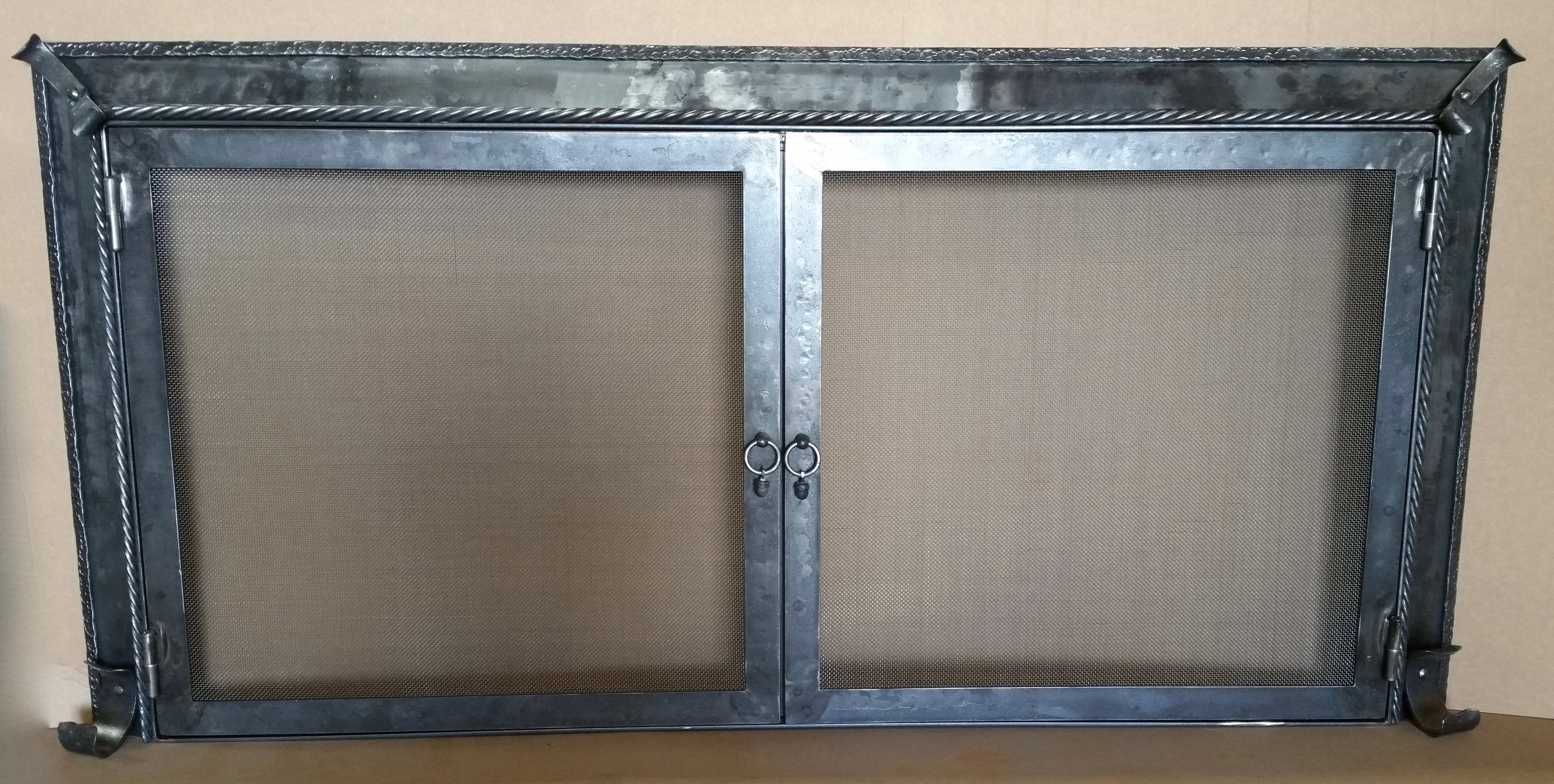 fireplace ironmountainanvil anvil by handmade mountain iron made custom screen screens
