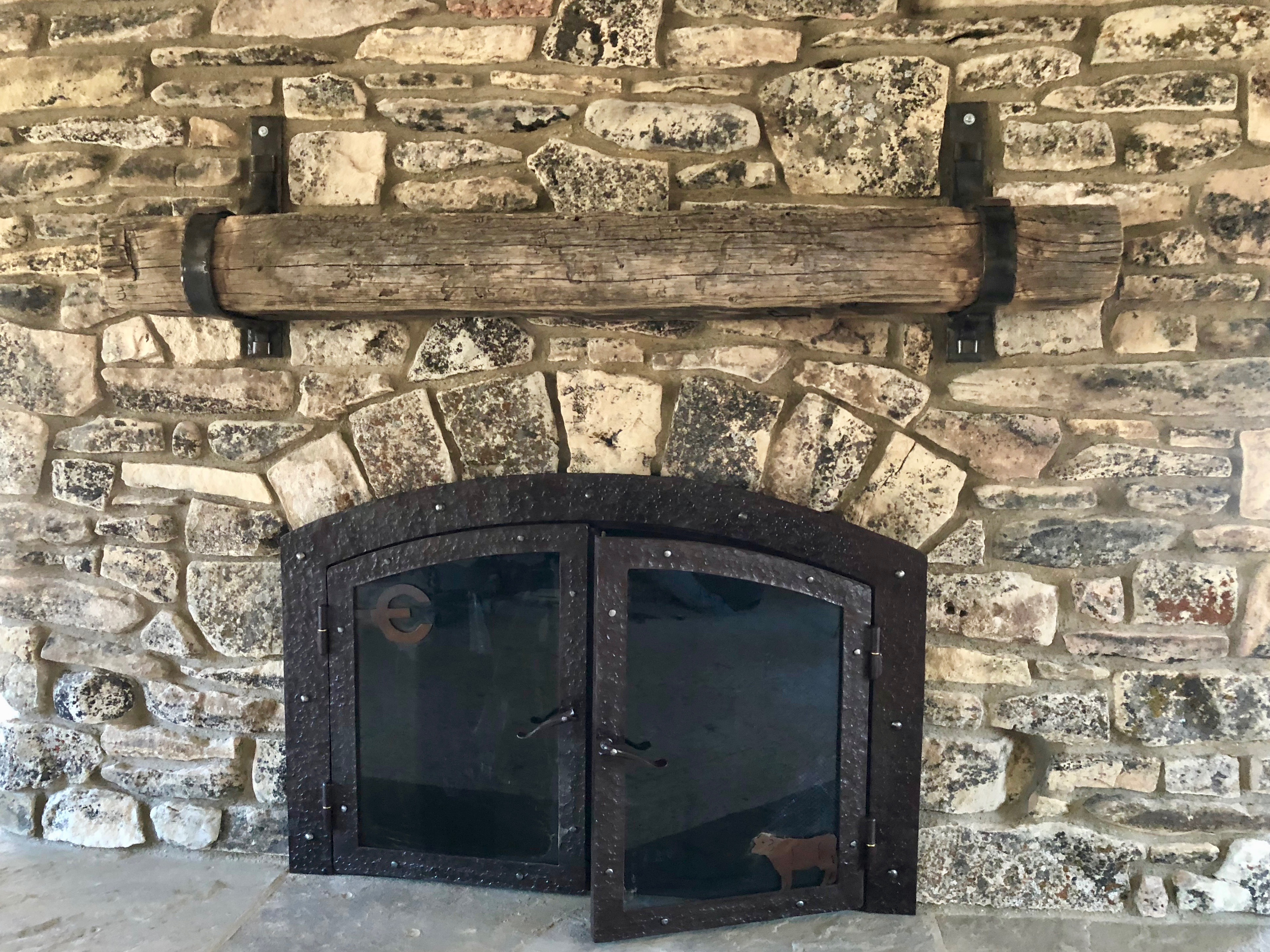 Branded Forged Fireplace Screen 0445